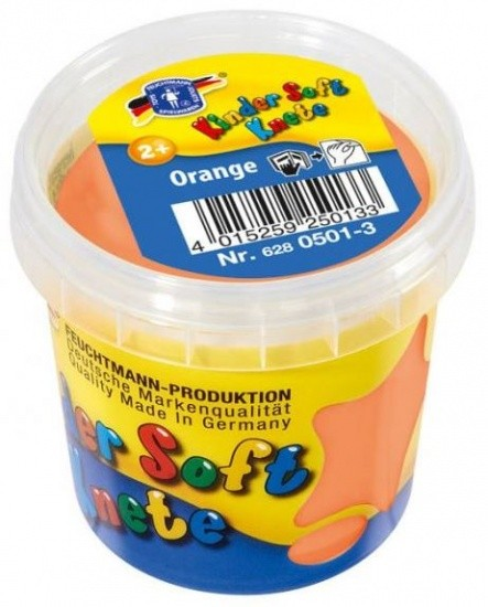 Kinder Soft Knete Basic Orange 150 Gramm Ton