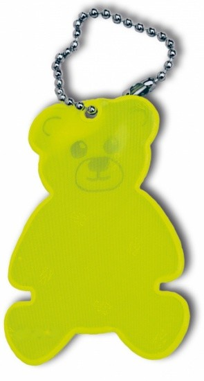 REFLECTING HANGER TEDDYBÄR YELLOW 2 PIECES