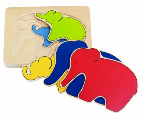 ELEPHANT 5 Layers Puzzle-5-teilig