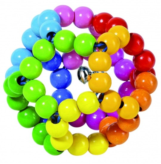 RATTLE BALL Rainbow 8 CM