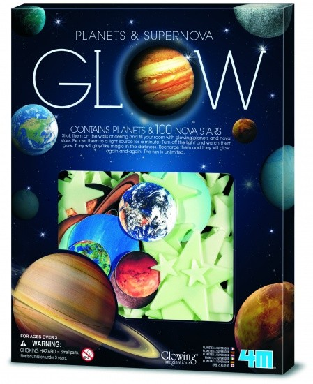 Glow in the dark PACK: PLANETEN UND SUPERNOVA