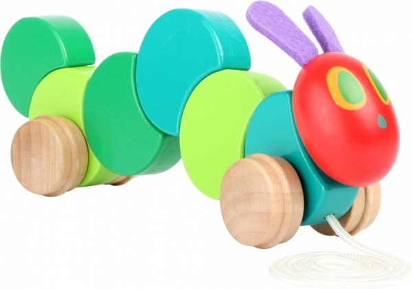 The Very Hungry Caterpillar Pull Figur Holz 26 x 6 cm