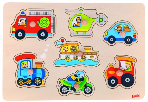 Buttons PUZZLE ROAD FUNDS 30 x 21 cm 7-teilig